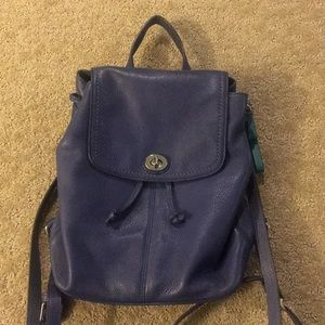 Coach Grape Leather Backpack